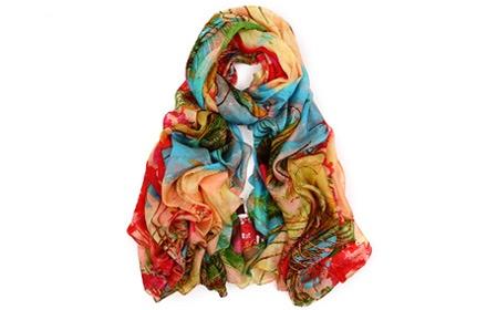 雀羽围巾的钩法图解