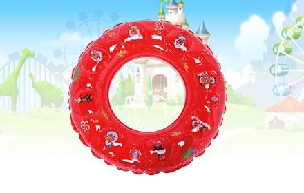 大红色喜洋洋卡通图案儿童圆形游泳圈