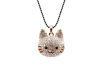 奥地利水晶吊坠可爱猫咪