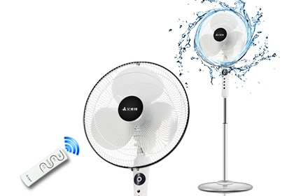 艾美特fs4070r遥控电风扇 家用落地扇 学生宿舍可用  5片扇叶  送风