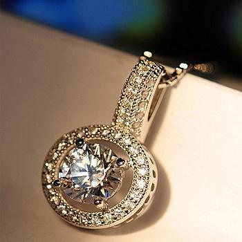 Mbox项链采用925银月光爱人项链