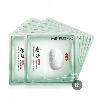 中国•美肤宝蚕丝丝滑补水面膜优享装 买6片送6片