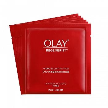 美国•OLAY(玉兰油)新生塑颜修纹弹力面膜 24g*6片