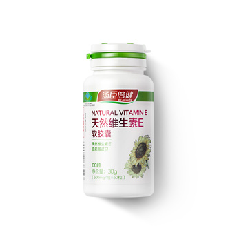 中国•汤臣倍健天然维生素E软胶囊 500mg/粒*60粒