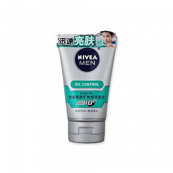 妮维雅(Nivea)男士控油亮肤矿物炭洁面泥100g