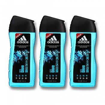 阿迪达斯(Adidas)冰点男士沐浴露  250ml*3