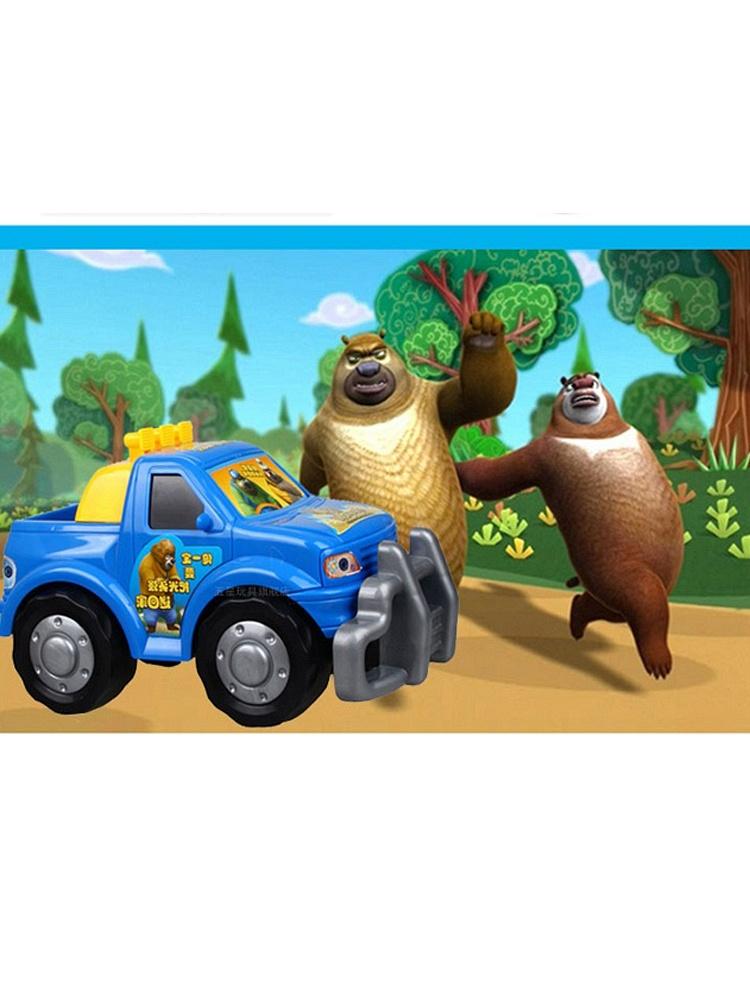 熊出没光头强卡通车玩具