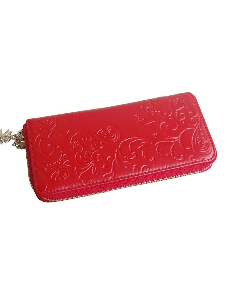 欧美复古花纹钱包