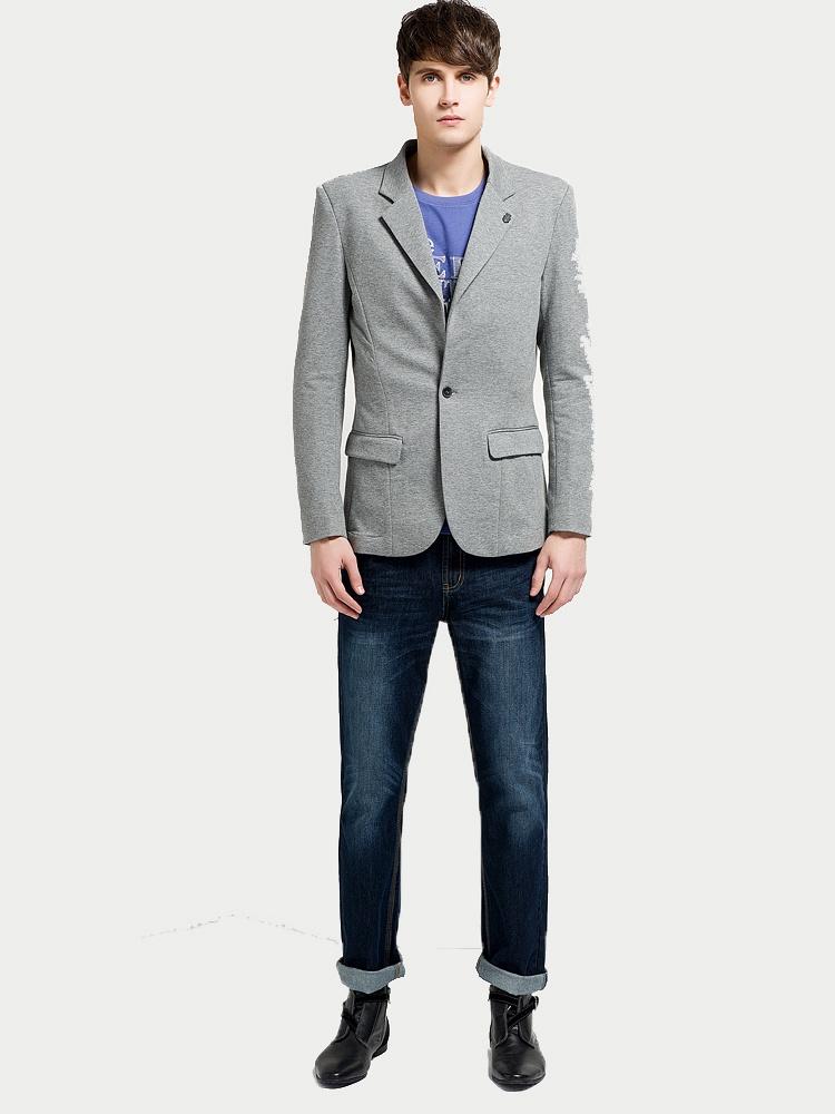森马男装 2014春装新款西装外套韩版图片