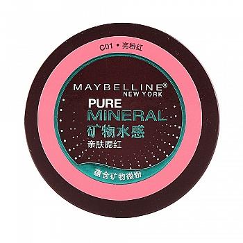 美国•美宝莲(MAYBELLINE) 矿物水感亲肤腮红 C01 4g(亮粉红)