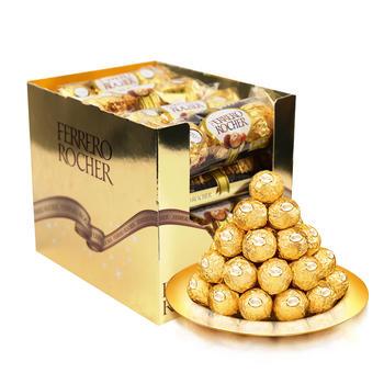 费列罗 榛果威化巧克力48粒(3粒装*16条)600g/盒