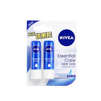妮维雅(Nivea)润唇膏(天然型)4.8G双支装