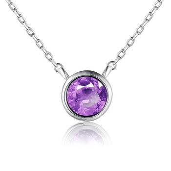 柏荷baihe璀璨紫晶彩宝项链