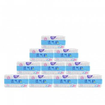 中国•洁婷(ladycare)透气棉柔卫生护垫10包(共400片)