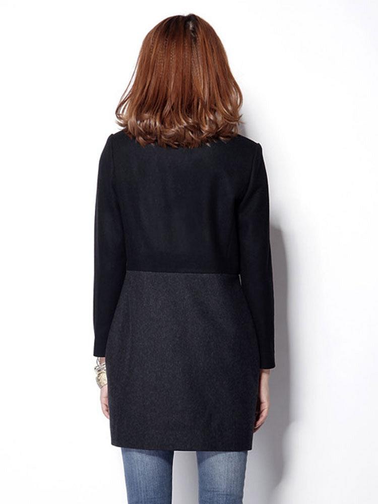 米可帛恩秋装建筑黑不好羊毛-聚美优品-最大拼接设计院国企是不是大衣图片