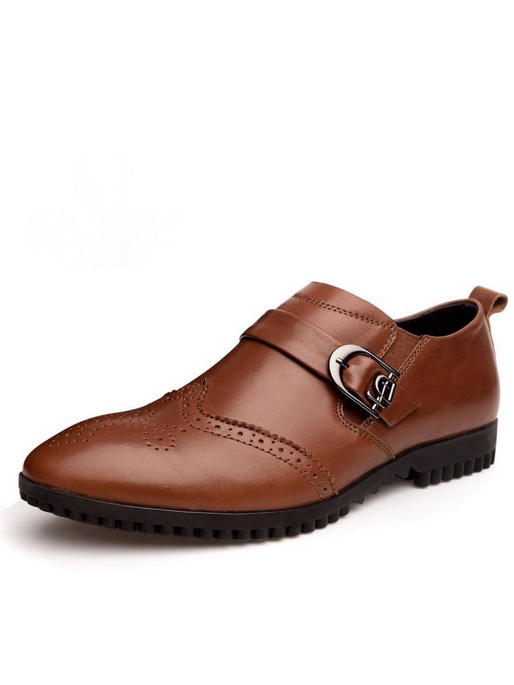 西域骆驼 时尚布洛克男鞋浅棕色 - 聚美优品 - 最