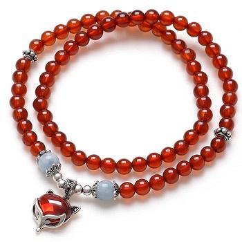 阿梵尼 橙红石榴石妩媚狐狸手链