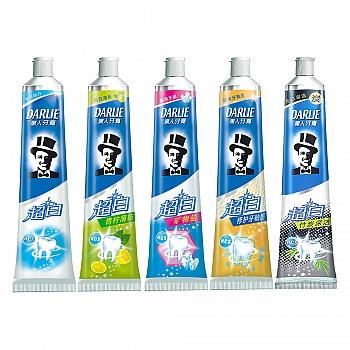黑人(DARLIE)尊享美白系列 超白+青柠薄荷+矿物盐+修护牙釉质+竹炭深洁牙膏90g