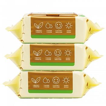 中国•润本Runben 婴儿手口湿巾(有盖)80片*3包装