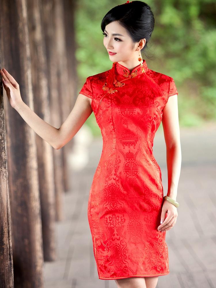 结婚旗袍新娘礼服敬酒服 1093 - 聚美优品 - 最