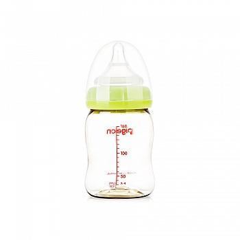 贝亲自然实感宽口径PPSU塑料奶瓶160ml(绿色)AA76