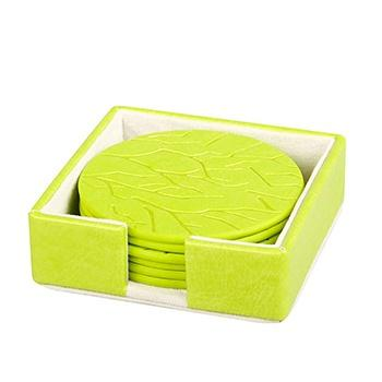 oasso 变色PU杯垫套装(绿色)