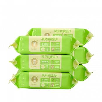 中国•润本Runben 婴儿倍护湿巾(无盖)80片*6包