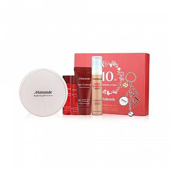 韩国•梦妆(mamonde)光采裸透气垫霜02 SPF30+/PA++ 自然色 15g  6件套组