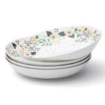光合生活花季骨瓷餐盘子套装陶瓷
