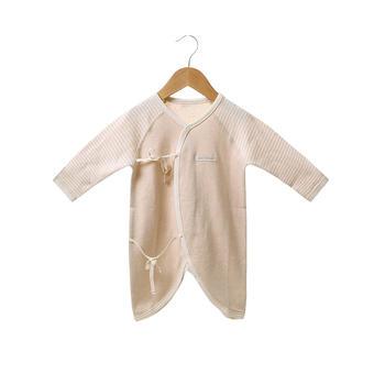 澳斯贝贝婴儿彩棉长袖蝴蝶衣浅棕