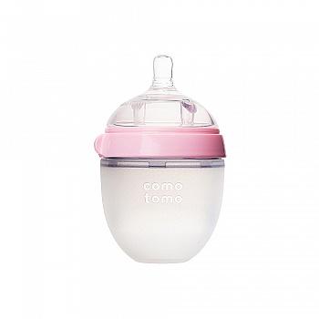 韩国?comotomo可么多么硅胶奶瓶150ml粉色
