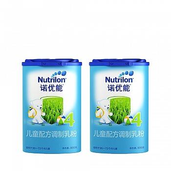 荷兰?Nutrilon诺优能儿童配方调制乳粉(36-72个月龄,4段)800g*2