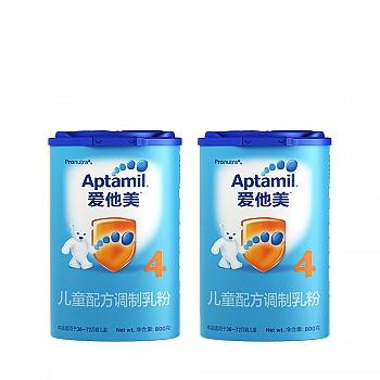 德国•Aptamil爱他美儿童配方调制乳粉(36-72个月龄,4段)800g*2
