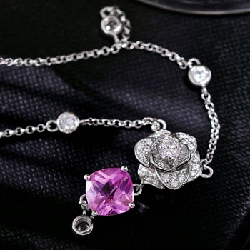 Mbox925银项链玫瑰夫人时尚项链