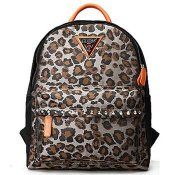 GUESS豹纹铆钉双肩包女包时尚背包