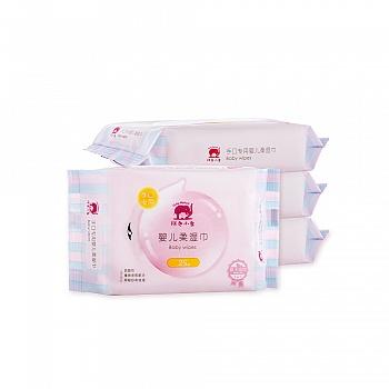中国•红色小象手口专用婴儿柔湿巾25P*4
