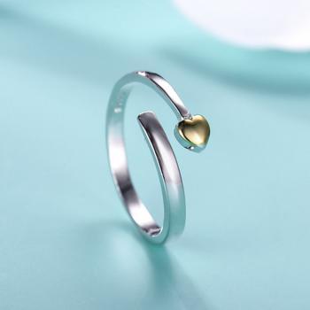 今上珠宝 925银心心相印开口戒指