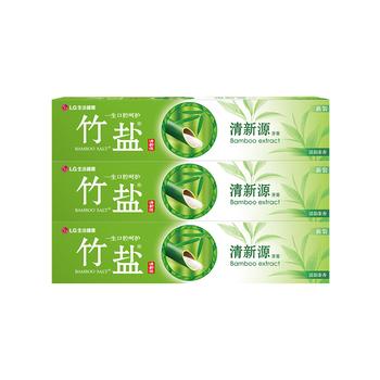 韩国•LG竹盐 清新源牙膏(清韵茶香)150g*3