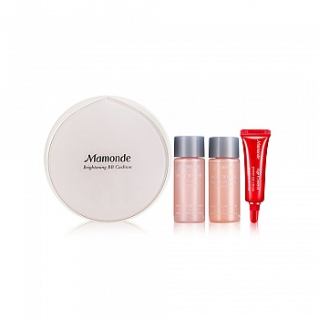韩国•梦妆(mamonde)光采裸透气垫霜01号  4件套组