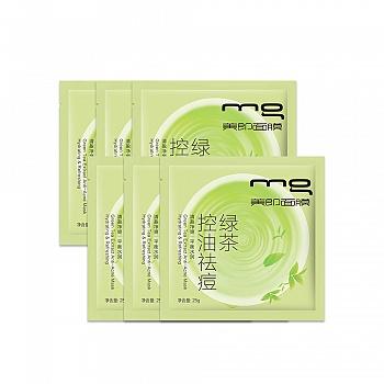 中国•MG美即绿茶控油祛痘面膜或绿茶清盈祛痘面膜升级版6片