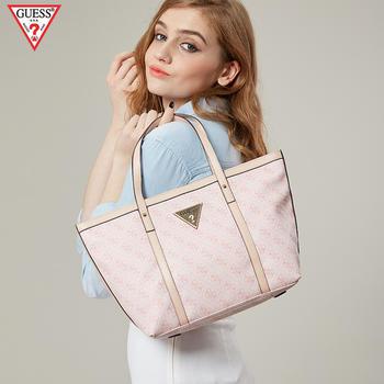 GUESS超纤PVC手提包粉色