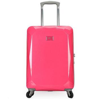 GUESS马卡龙万向轮拉杆箱20寸粉色