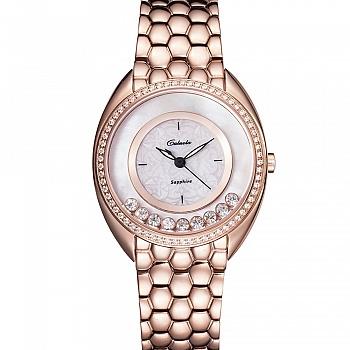 中国•卡罗莱女表玫瑰金色腕表时装防水
