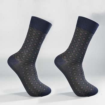 中国•2双装丝光棉精品绅士男袜 上青