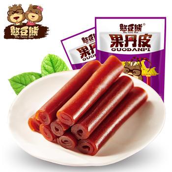 憨豆熊 果丹皮 休闲零食208g*2袋