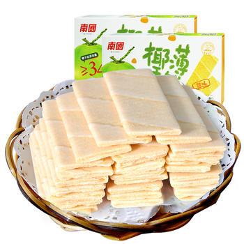 南国椰香薄饼80gX2盒甜味咸味可选