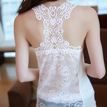 中国•维妮芳美背蕾丝不带胸垫背心单品