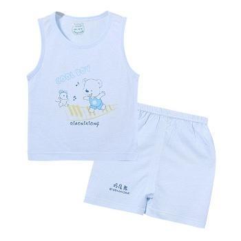 巧尼熊 婴儿夏装竹纤维背心短裤