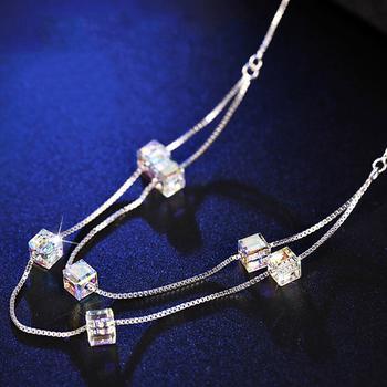 戴拉 时尚925银双层气质锁骨链