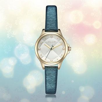 中国?聚利时韩国绿色时尚简约女士手表